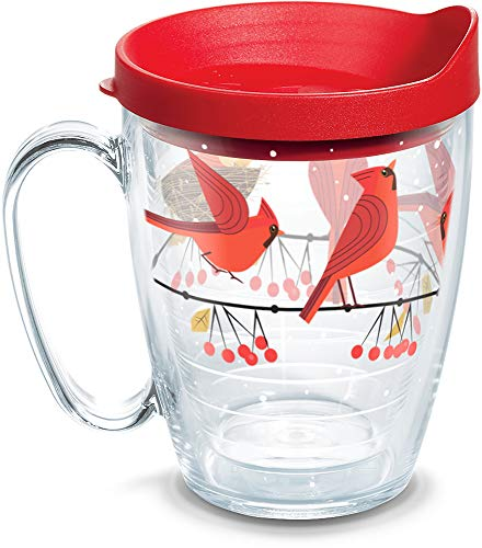 (Tervis 1318407 Cardinals Insulated Tumbler with Wrap and Lid 16 oz Mug - Tritan Clear)