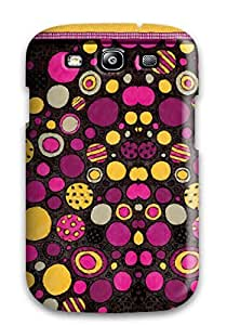 Durable Case For The Galaxy S3- Eco-friendly Retail Packaging(funky Pink And Yellow Dots )