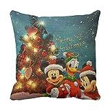 Richess Disney Christmas Cushion Pillow Merry Christmas Throw Cushions For Sofa