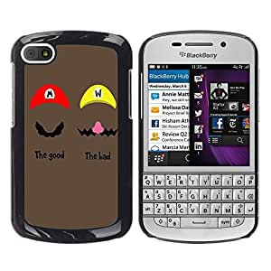 - Cartoon Girl Cute - - Monedero pared Design Premium cuero del tir¨®n magn¨¦tico delgado del caso de la cubierta pata de ca FOR BlackBerry Q10 Funny House