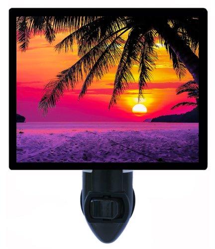 Night Light - Tropical Silhouette - Palm Tree - - Silhouette Palm