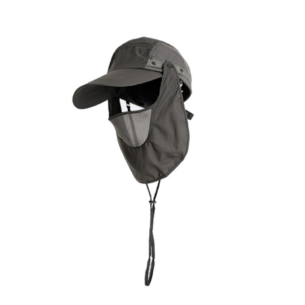 Man Women Unisex Honor Jojoba Outdoor Fishing Sun Cap Hat UV Protection with Removable Neck Flap and Mesh Cover UPF50