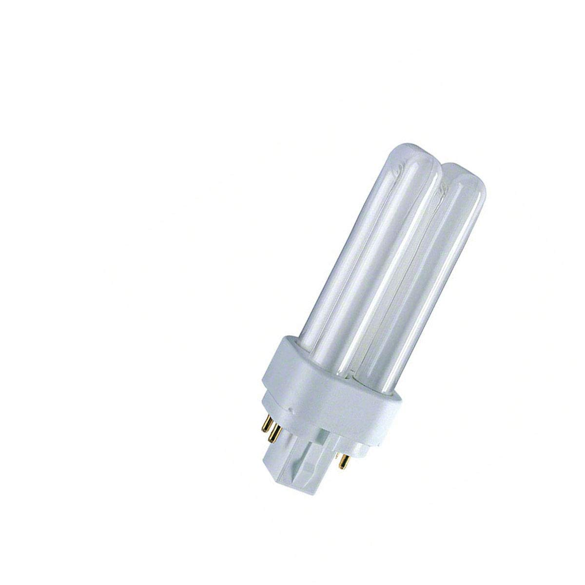 830 Lampada fluorescente compatta Dulux D 26 Watt 2P G24d-3 Osram 10 pz luce naturale