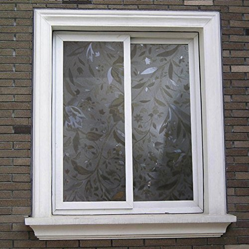 Window film bloss fashion hibiscus opaque frosted glass window film window c - Fenetre salle de bain opaque ...