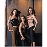 Charmed Rose McGowan, Holly Marie Combs, Alyssa Milano Posing with Wind Blown Hair 8 x 10 Inch Photo