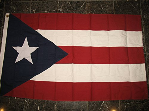 Puerto Rico Cotton Flag 3x5 3'x5' Banner Embroidered Sewn Gr
