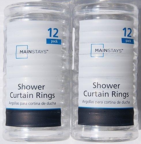 high-quality J & M Home Fashions 7626 Black Plastic Shower Curtain Hooks 12Pk