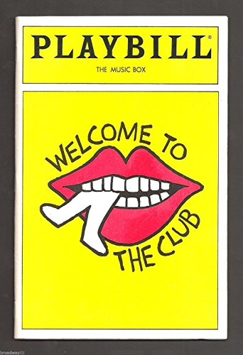 """Cy Coleman """"Greeting TO THE CLUB"""" Marilyn Sokol / Sally Mayes 1989 FLOP Playbill"""