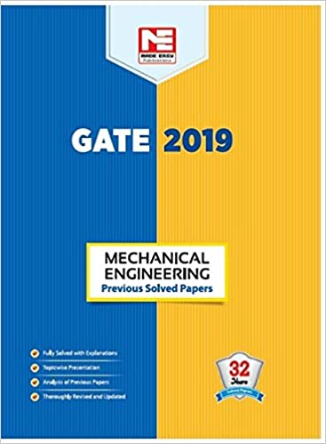 Buy GATE 2019: Mechanical Engineering - Previous Solved