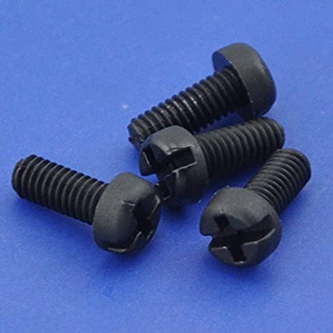 Sourcingmap/® M2/x 6/mm Nylon Phillips Kreuz Pan Head Maschine Schrauben schwarz 50/PCS