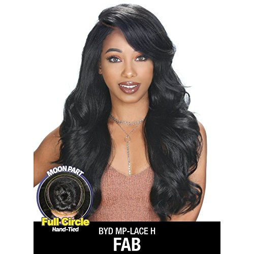 (Zury Sis Synthetic Beyond Full Circle Moon Part Lace Front Wig - H FAB (SOM RT PLATINUM))