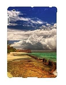 First-class Case Cover Series For Ipad 2/3/4 Dual Protection Cover Bora Bora Beach Corner MjuLkJo540uPySU