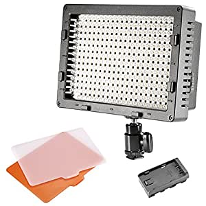 NEEWER CN-304 304PCS LED Dimmable Ultra High Power Panel Digital Camera / Camcorder Video Light, LED Light for Canon, Nikon, Pentax, Panasonic, SONY, Samsung and Olympus Digital SLR Cameras