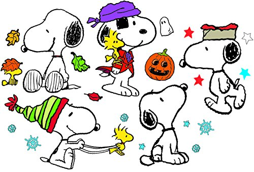 Eureka Classroom Supplies Back to School Snoopy Holiday Poses Bulletin Board Sets, 18''x0.1''x28'', 41 -
