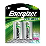 #7: Energizer C2 Rechargeable, Size C, 2-Count
