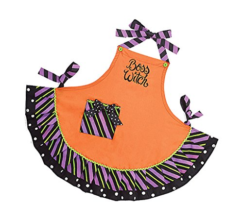 Adult size Boss Witch Halloween Apron (Apron Witch Kitchen)