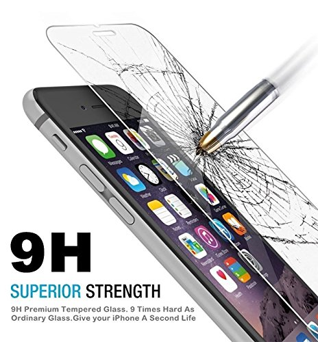 Generic iPhone Screen Protector, HD Clear, Anti-Fingerprint, Anti-scratch, Shatterproof, Premium Tempered Glass for SE, 5S, 5C, 5 - Ultra-Clear