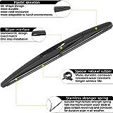 AUTOBOO Rear Windshield Wiper Arm Blade Set For