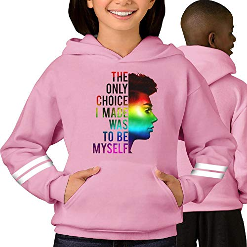 Kids Sweatshirt Sister - Fashion Unisex Ja-mes Ch-Arles Sisters Hoodie Novelty Pullover Hoodies Long Sweatshirt with Pockets for Youth Pink M