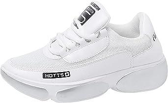xinxinyu Zapatillas Deportivas para Mujer | Transpirables Zapatos Gimnasio Entrenamiento Correr Sneaker | Fondo Grueso Calzado Deportivo de Plataforma con Cordones: Amazon.es: Electrónica