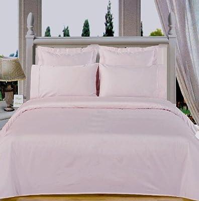 Luxury Egyptian Cotton Juego de sábanas de algodón Egipcio sin Arrugas, 600 Hilos, tamaño Queen, Color Blanco sólido: Amazon.es: Hogar