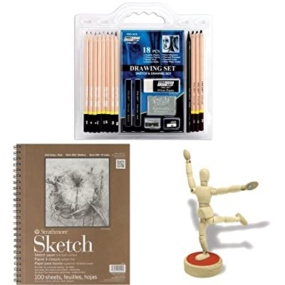 Drawing Set Kit with Paper and Model Mannequin