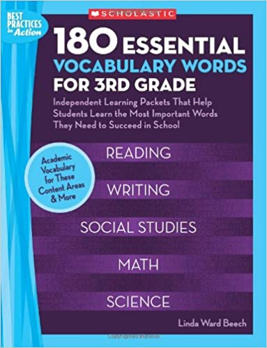 Rapidshare ebook download 180 Essential Vocabulary Words for 3rd Grade: Independent Learning Packets That Help Students Learn the Most Important Words They Need to Succeed in School (Best Practices in Action) på Dansk PDF RTF