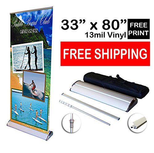 Fantastic Displays 33'' Deluxe Retractable Banner Stand with Print by Fantastic Displays