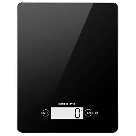 Amir Digital Kitchen Scale 11lb 5kg Electronic Food Scale Tempered