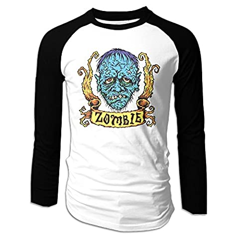 Long Sleeve Plain Raglan Baseball Jersey Shirts Rob Zombie Blue Zombie Sticker Men (Educated Horses Vinyl)