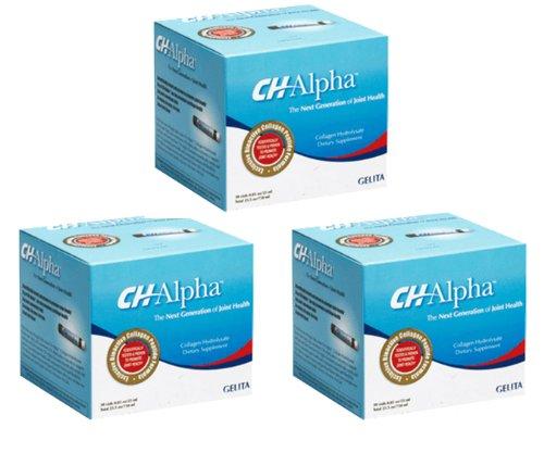 CH-Alpha ChAlpha Joint supplément santé hydrolysat collagène (30ct) - 3 boîtes