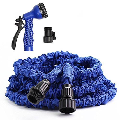 75FT Expandable Garden Hose Pipe with 7 in 1 Spray Gun (BLUE) - 2