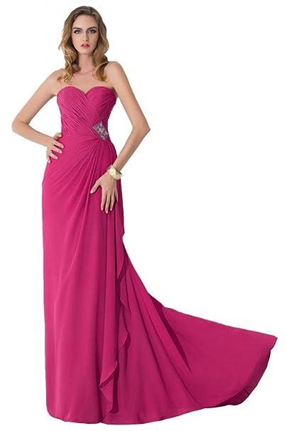 Sunvary funda Scoop mitad rosa madre de novia vestidos gasa