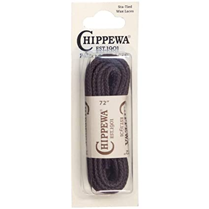 1f09a7de4004 Amazon.com  Chippewa 72 In. Sta-Tied Waxed Boot Laces Brn Sox9572 ONE SIZE   Home   Kitchen