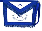 D3500F Apron Masonic Past Master w/ Wreath + Fringe