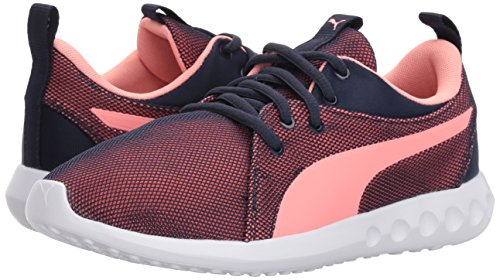 PUMA Unisex-Kids Carson 2 Breathe Sneaker, Peacoat-Soft Fluo Peach, 3 M US Little Kid by PUMA (Image #6)