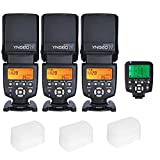 Yongnuo YN560 IV 3PCS DSLR Flash Speedlite with YN560TX-Canon and Diffuser for Canon DSLR