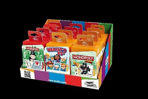 Juego de cartas Shuffle en caja de plástico clásico de 4 modelos surtidos de Hasbro – Cantidad 12 unidades: Amazon.es: Oficina y papelería