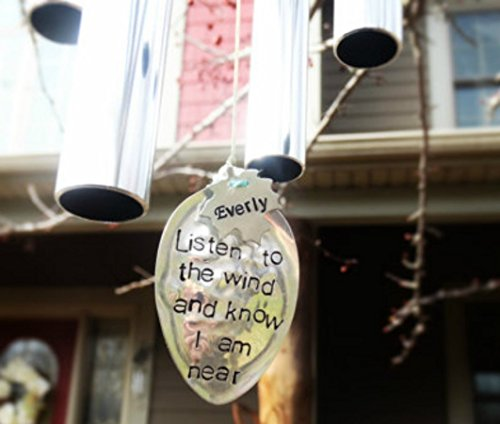 Unique Custom Memorial Wind Chime In Memory of Loved One for Memorial Garden gift after loss of child stillbirth remembrance gift in memory of daughter soon dad or loved one