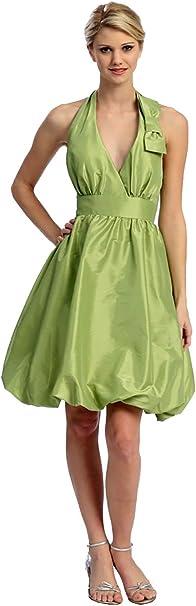 Cocktailkleid Knielang Abendkleid Kurz Abi Ballkleid Brautjungfernkleid Fur Hochzeitpartykleid Neckholder Ballonrock Taft Amazon De Bekleidung