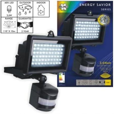 Elro ES60 LED Scheinwerfer mit Bewegungsmelder