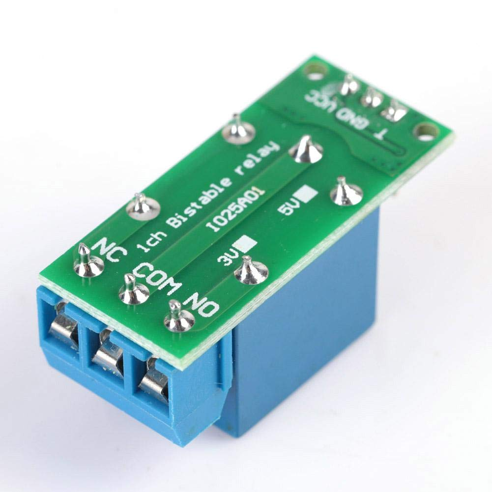 1 DC5V Flip-Flop-Verriegelungsrelais-Modul Bistabiler selbstsperrender Schalter Low Pulse Trigger Board IO25A01 Selbstsperrendes Relais-Modul Low Pulse Trigger Control Board