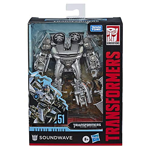 Transformers Toys Studio Series 51 Deluxe Class Dark of The Moon Movie Soundwave Action Figure – Kids Ages 8 & Up, 4.5″