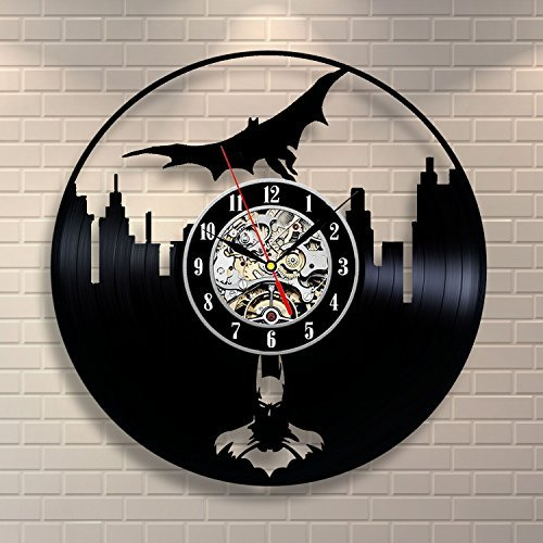 Batman Movie Vinyl Record Clock Home Design Room Art Decor Handmade Vintage by Vinyl Evolution