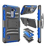phone cases for a lg slide phone - LG Stylo 2 Case, LG Stylo 2 Plus Case, Njjex [Ngate Series] Armor Shock Swivel Locking Holster Belt Clip Kickstand Heavy Defender Full Body Carrying Case Cover For LG Stylus 2 /Stylus 2 Plus [Blue]