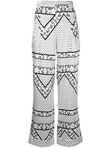 Ganni Women's F2888135 White Silk Pants from Ganni