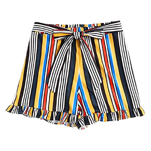 Woman Bandage Shorts Sexy Hollow Out Summer Buds Short Pants Casual Stripe Hot Pants Plus Size Bowknot Shorts