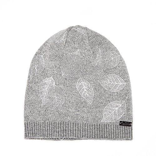 (LADYBRO Beanie Hat for Women Print Wool Knit Cap Crochet Warm Fleece Fashion Beany)