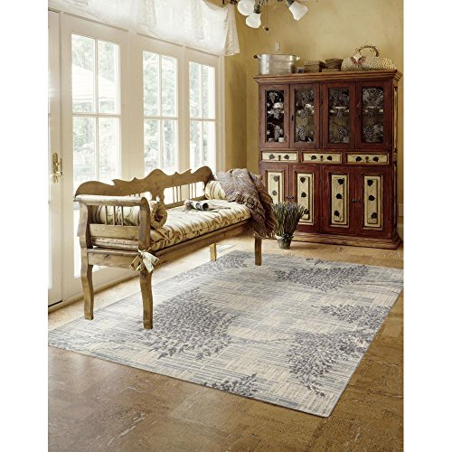 - Rug Squared Stanford Contemporary Area Rug (STD02), 5-Feet 3-Inches by 7-Feet 5-Inches, Champagne