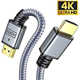 4K 60Hz HDMI Cable, 6.0 ft AINOPE High Speed 18Gbps HDMI 2.0 Cable, 30AWG 3D 2160p 1080p Ethernet Nylon Braided HDMI Cord - Compatible Audio Return(ARC) UHD TV, Box PS4/3 4K Fire Netflix LG Samsung